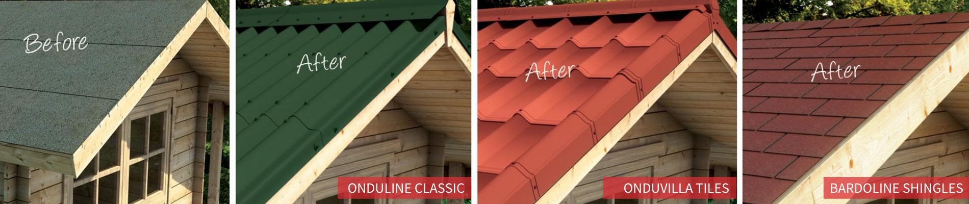 Onduline lightweight roofing